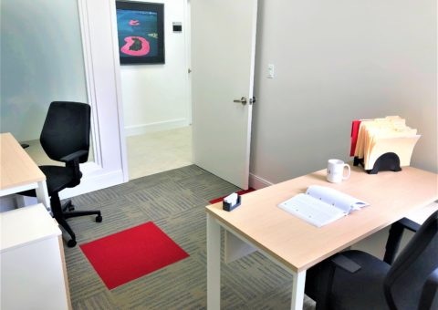 Private office with two desks
